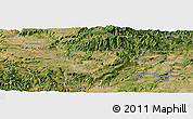 Satellite Panoramic Map of Prades-le-Lez