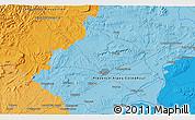 Political 3D Map of Nîmes