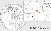 """Blank Location Map of the area around 43°53'30""""N,4°19'30""""E"""