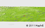 Physical Panoramic Map of Boisset-et-Gaujac