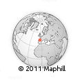 """Outline Map of the Area around 43° 53' 30"""" N, 4° 10' 30"""" W, rectangular outline"""
