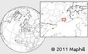 Blank Location Map of L'Isle-sur-la-Sorgue