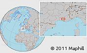 Gray Location Map of Carpentras