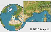 Satellite Location Map of Carpentras