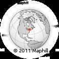 Outline Map of Brownville, rectangular outline