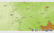 """Physical 3D Map of the area around 43°53'30""""N,79°49'29""""W"""