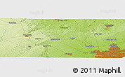 """Physical Panoramic Map of the area around 43°53'30""""N,79°49'29""""W"""