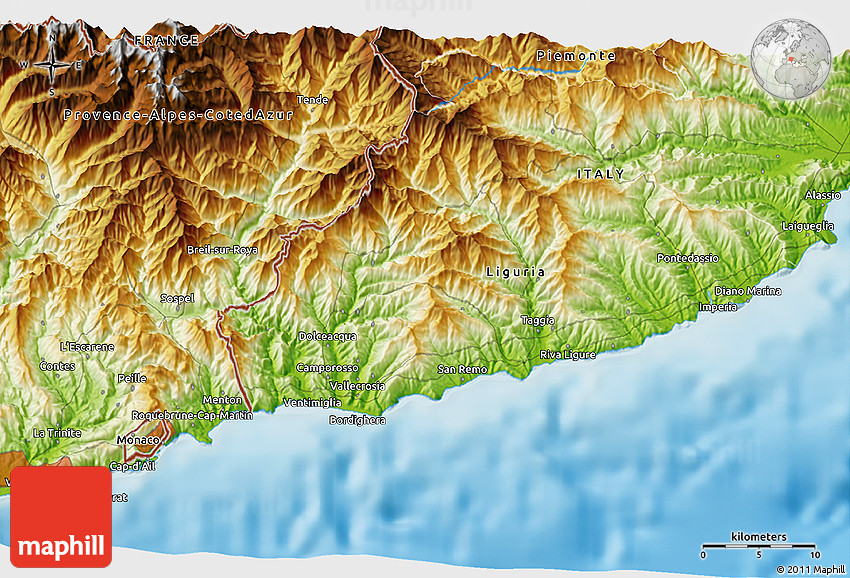Physical 3D Map of MonteCarlo