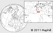 Blank Location Map of Menton
