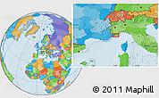 Political Location Map of Menton