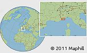 Savanna Style Location Map of Menton