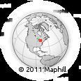 Outline Map of Listowel, rectangular outline