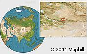 Satellite Location Map of Miquan