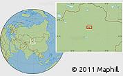 Savanna Style Location Map of Miquan