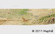 Satellite Panoramic Map of Miquan
