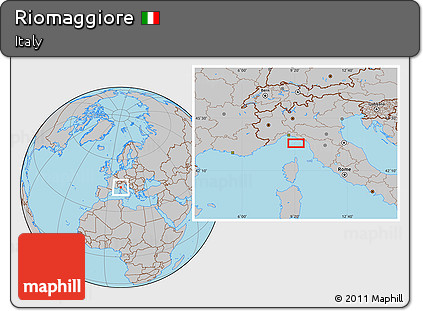Riomaggiore Italy Map.Free Gray Location Map Of Riomaggiore