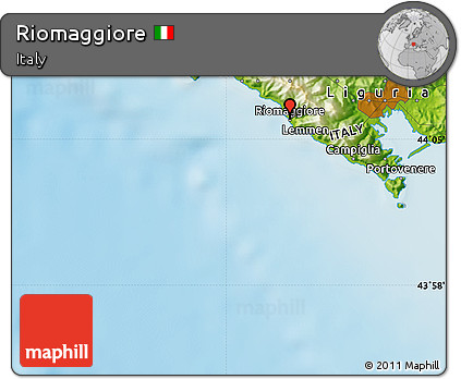 Riomaggiore Italy Map.Free Physical Map Of Riomaggiore