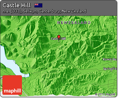 Free Political 3D Map of Castle Hill