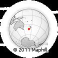 Outline Map of Te Waipounamu / South Island, rectangular outline