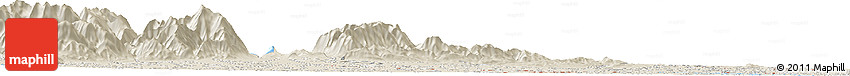Shaded Relief Horizon Map of Darfield
