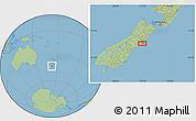 "Savanna Style Location Map of the area around 43°36'16""S,172°37'30""E"