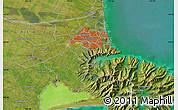 "Satellite Map of the area around 43°36'16""S,172°37'30""E"