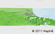 """Political Panoramic Map of the area around 43°36'16""""S,172°37'30""""E"""