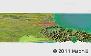 "Satellite Panoramic Map of the area around 43°36'16""S,172°37'30""E"