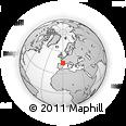 Outline Map of Casteljaloux, rectangular outline