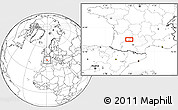 """Blank Location Map of the area around 44°19'14""""N,0°55'29""""E"""