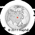 Outline Map of Tsagaan Tologoy, rectangular outline
