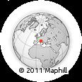 Outline Map of Fiumalbo, rectangular outline