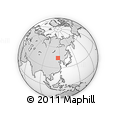 Outline Map of Modon, rectangular outline