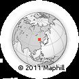 Outline Map of Jirin Gol, rectangular outline