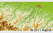 """Physical 3D Map of the area around 44°19'14""""N,11°7'30""""E"""