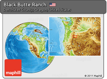 Free Physical Location Map of Black Butte Ranch