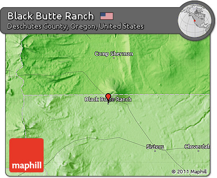 Free Political Map of Black Butte Ranch
