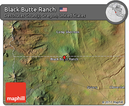Free Satellite Map of Black Butte Ranch