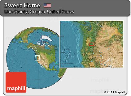 Free Satellite Location Map Of Sweet Home