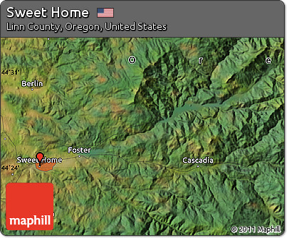 map sweet home oregon Free Satellite Map Of Sweet Home map sweet home oregon