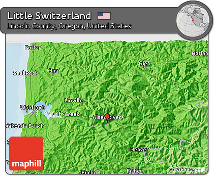 Political 3d Map Of Little Switzerland
