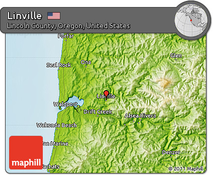 Free Physical Map of Linville