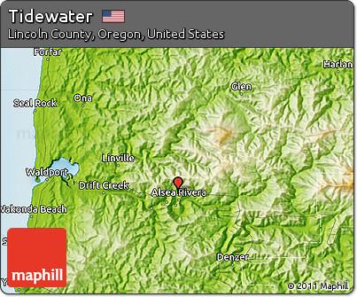 Tidewater Oregon Map Oregon Map - Physical map of oregon