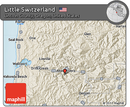 Free Shaded Relief Map Of Little Switzerland