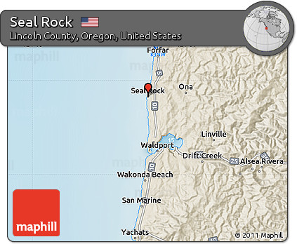 Free Shaded Relief Map Of Seal Rock
