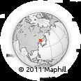 Outline Map of Jiutai, rectangular outline