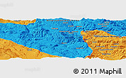 """Political Panoramic Map of the area around 44°19'14""""N,17°4'30""""E"""
