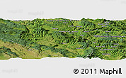 "Satellite Panoramic Map of the area around 44°19'14""N,17°4'30""E"