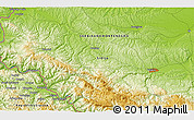 """Physical 3D Map of the area around 44°19'14""""N,19°37'30""""E"""