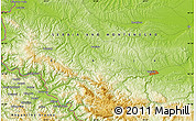 """Physical Map of the area around 44°19'14""""N,19°37'30""""E"""